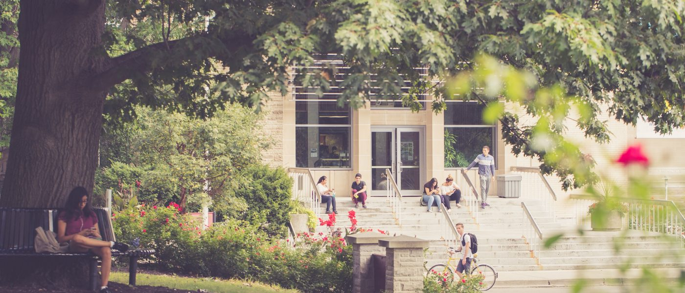 Students Relaxing on Campus