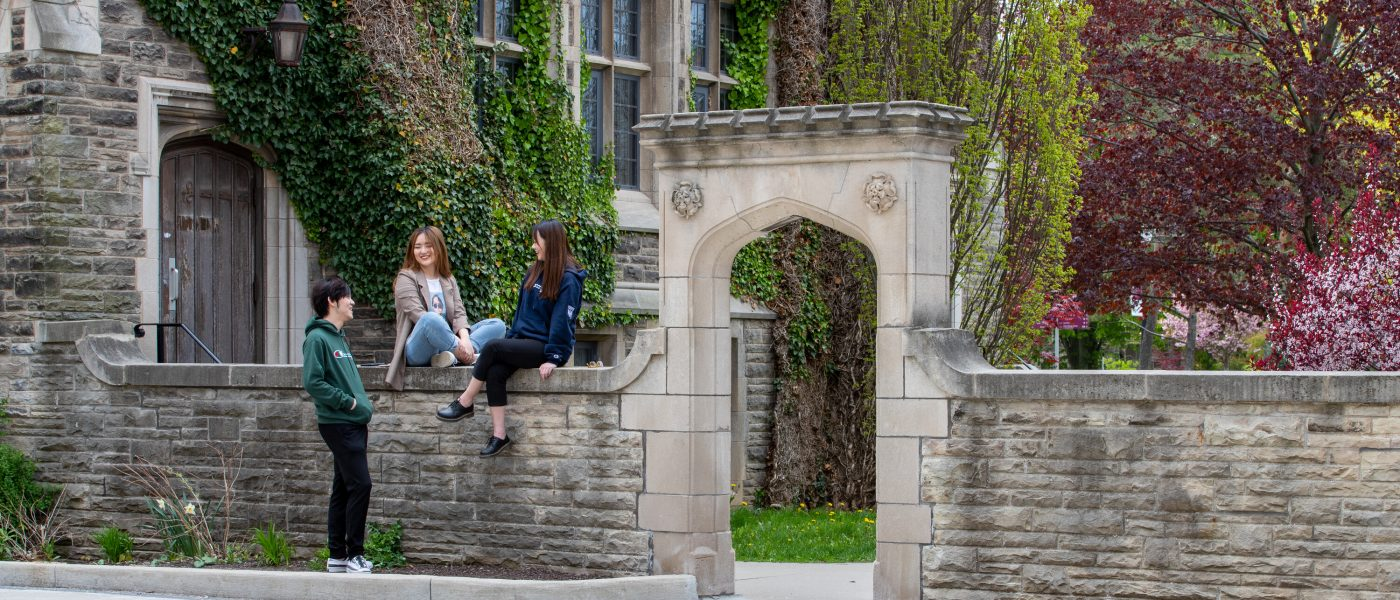Students Hanging out on Edwards Arch